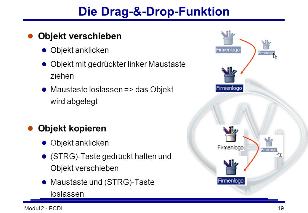 Die Drag-&-Drop-Funktion