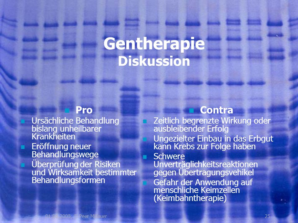 Gentherapie Diskussion