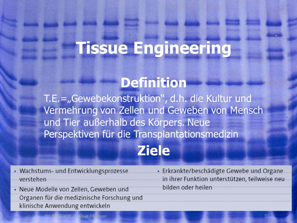 Tissue Engineering Definition Ziele