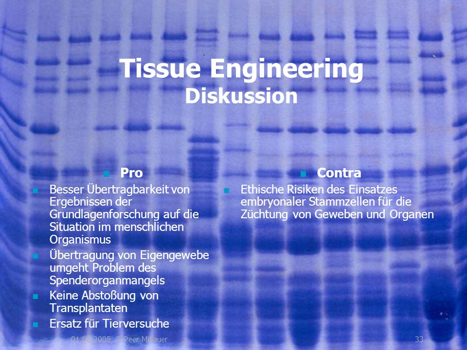 Tissue Engineering Diskussion