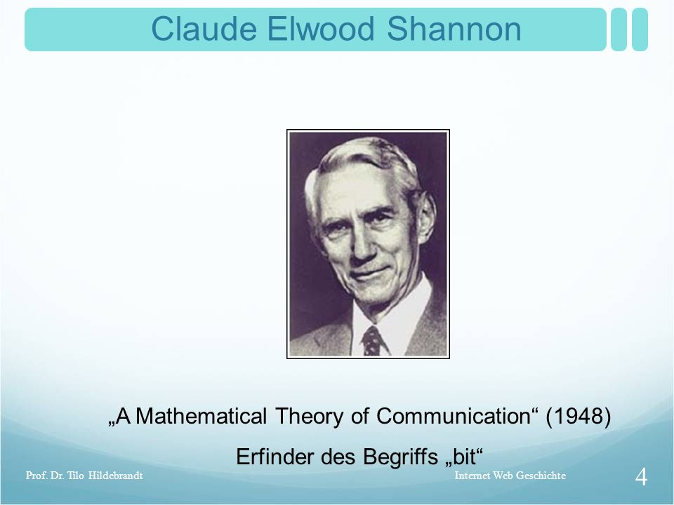"Claude Elwood Shannon ""A Mathematical Theory of Communication (1948)"