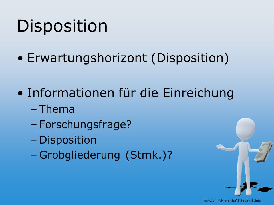 Disposition Erwartungshorizont (Disposition)