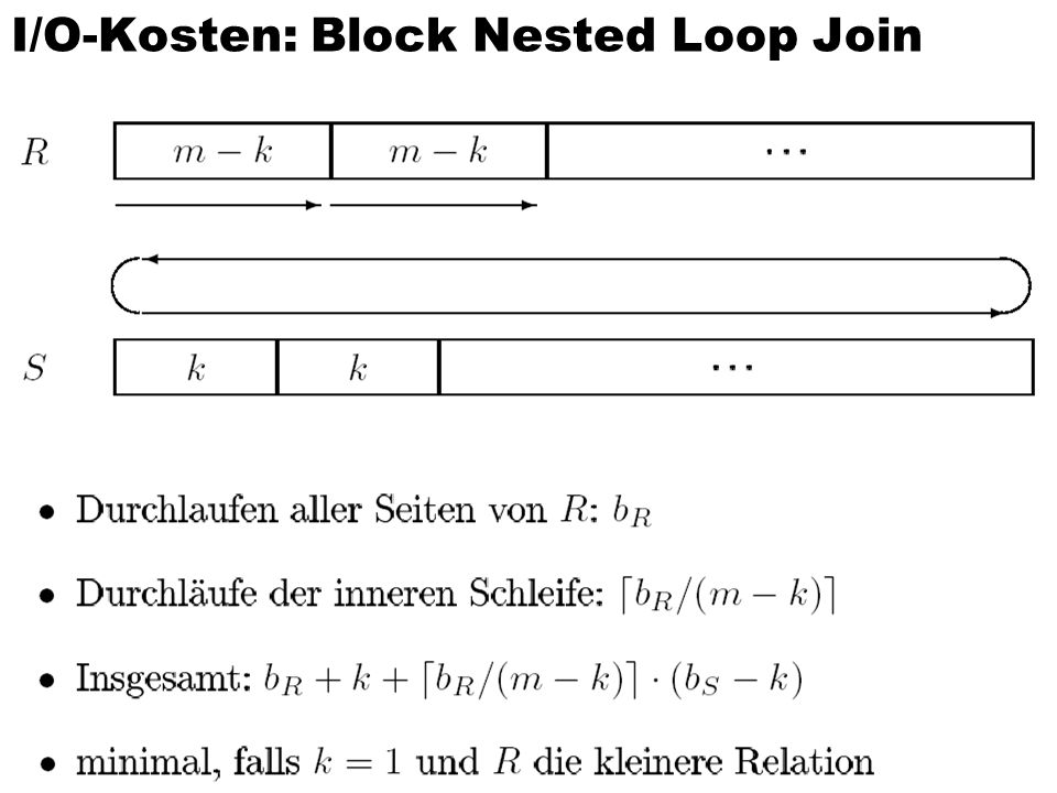 I/O-Kosten: Block Nested Loop Join