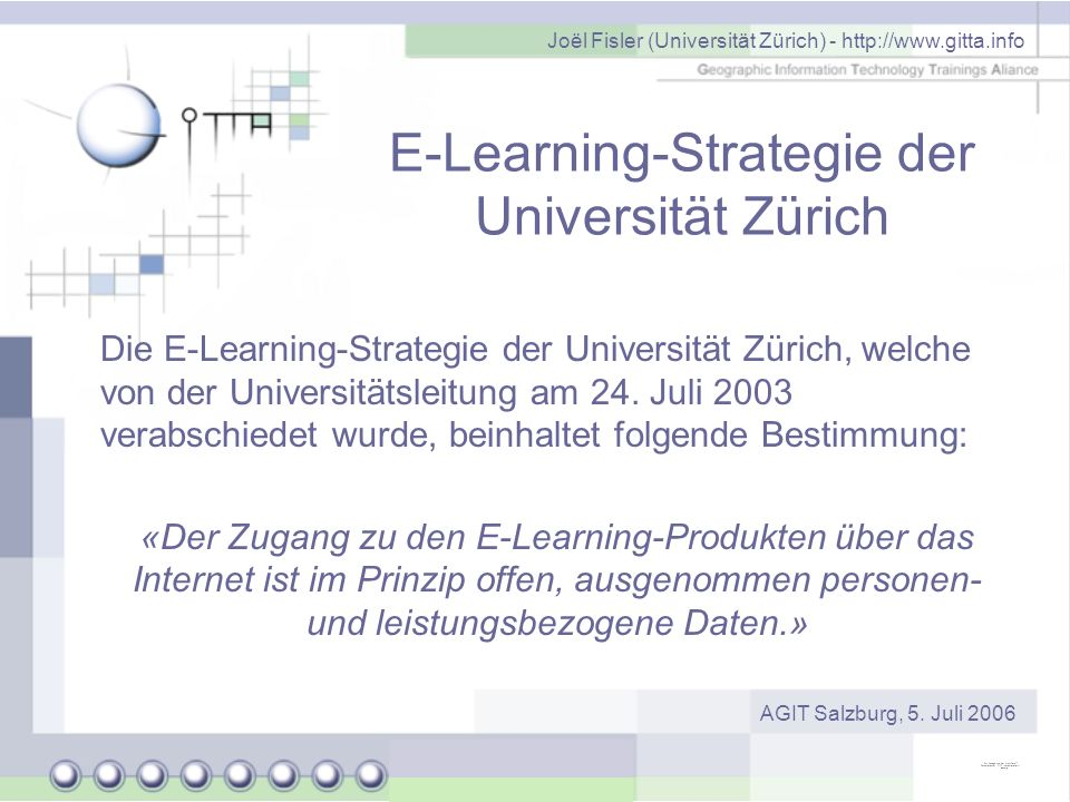 E-Learning-Strategie der Universität Zürich