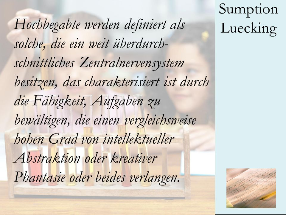 Sumption Luecking