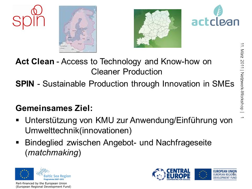 Act Clean - Access to Technology and Know-how on Cleaner Production