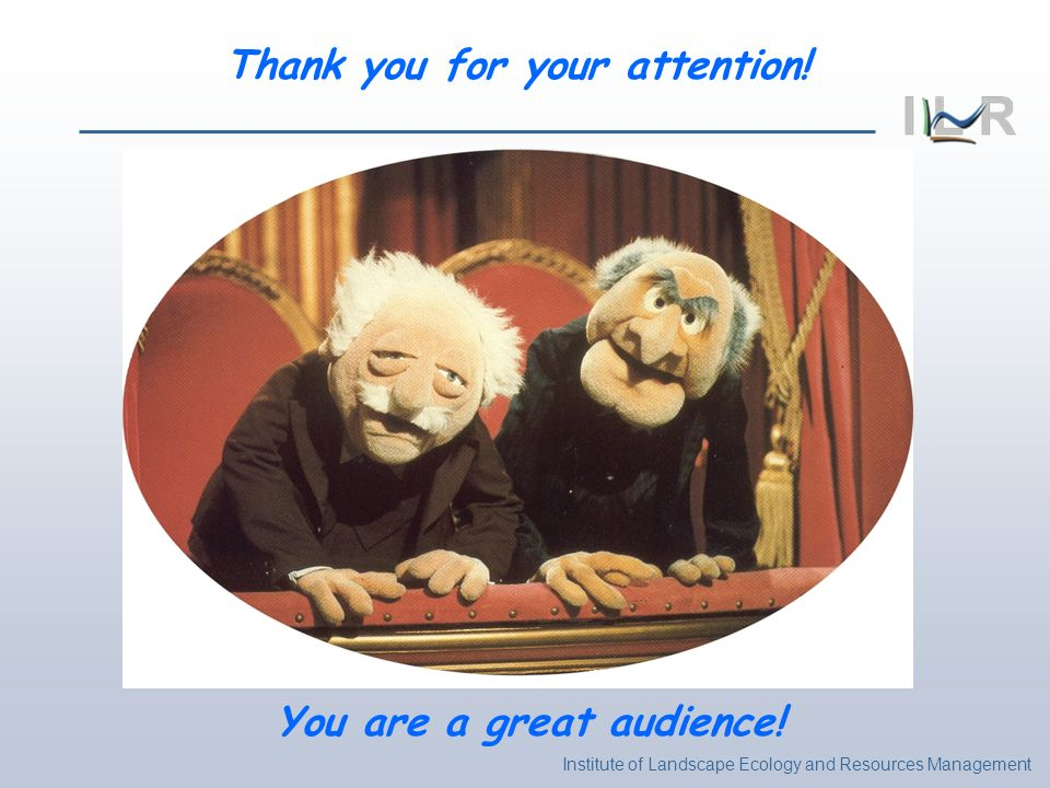 Thank you for your attention! You are a great audience!