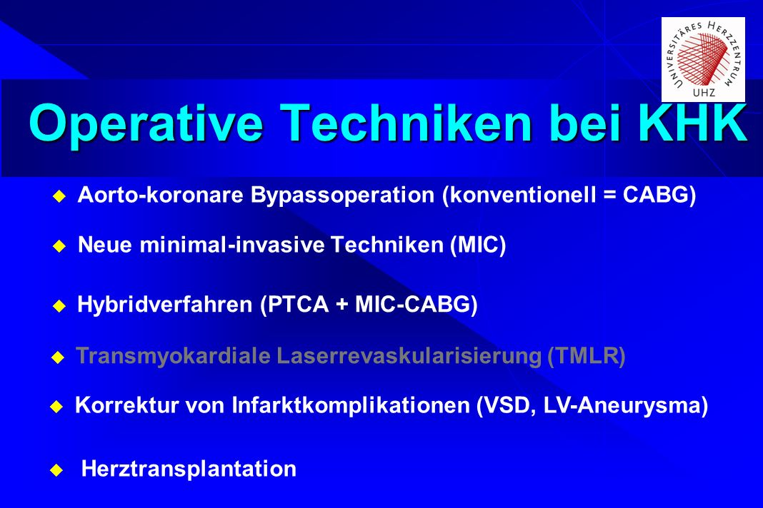 Operative Techniken bei KHK
