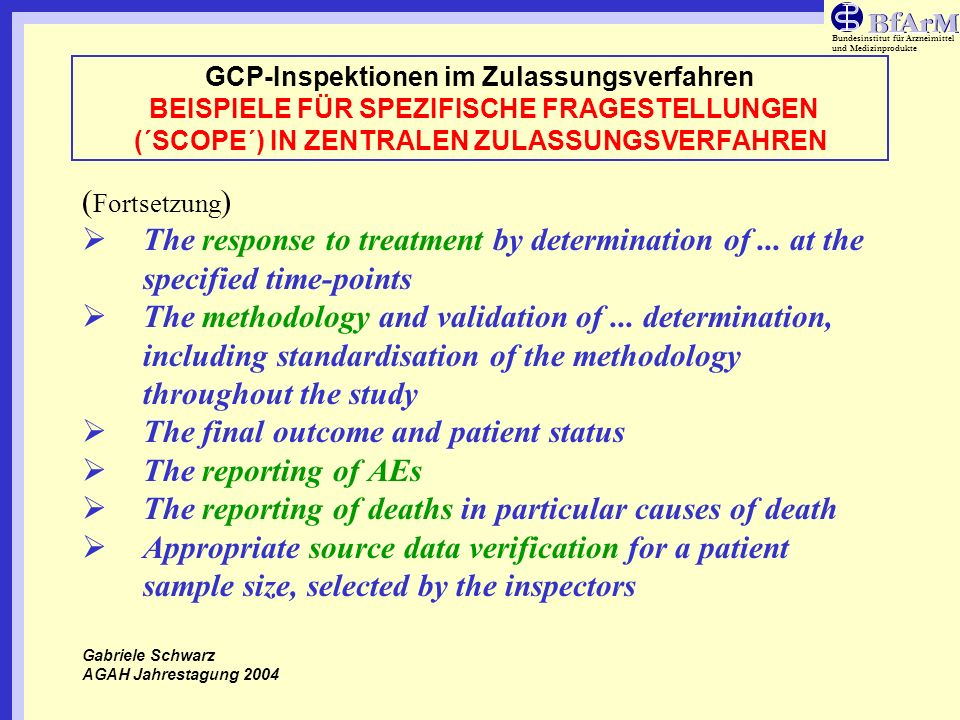 The final outcome and patient status The reporting of AEs
