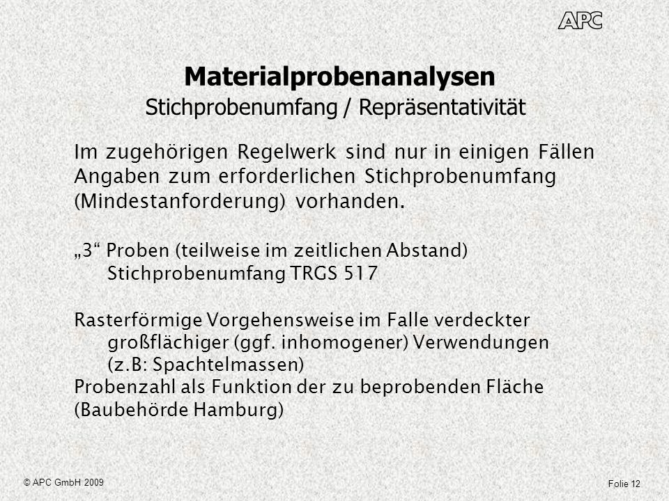 Materialprobenanalysen