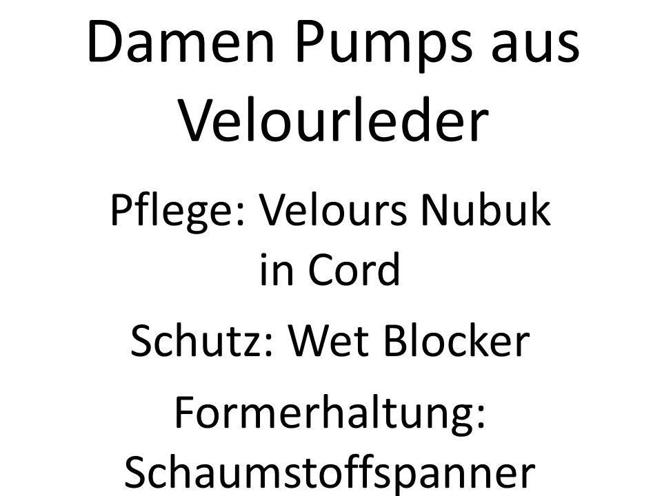 Damen Pumps aus Velourleder