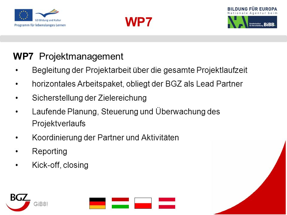 WP7 WP7 Projektmanagement