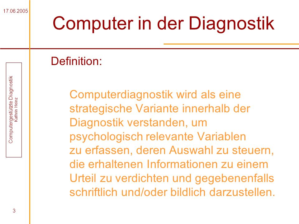 Computer in der Diagnostik