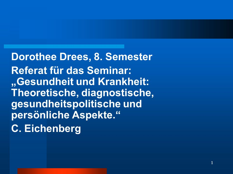 Dorothee Drees, 8. Semester