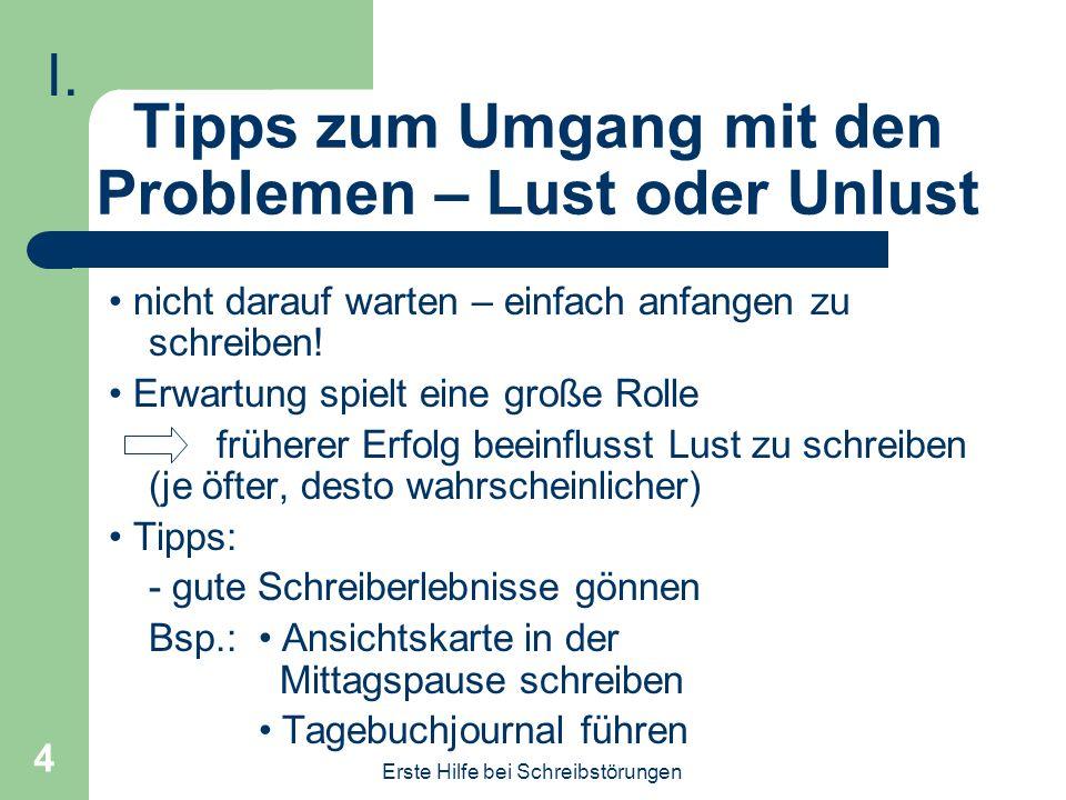 Erste Hilfe bei Schreibstörungen - ppt video online herunterladen