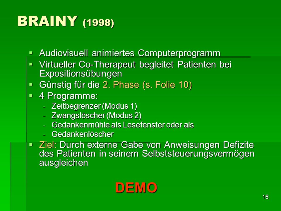 BRAINY (1998) DEMO Audiovisuell animiertes Computerprogramm