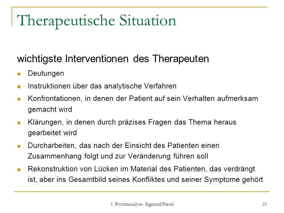 Therapeutische Situation