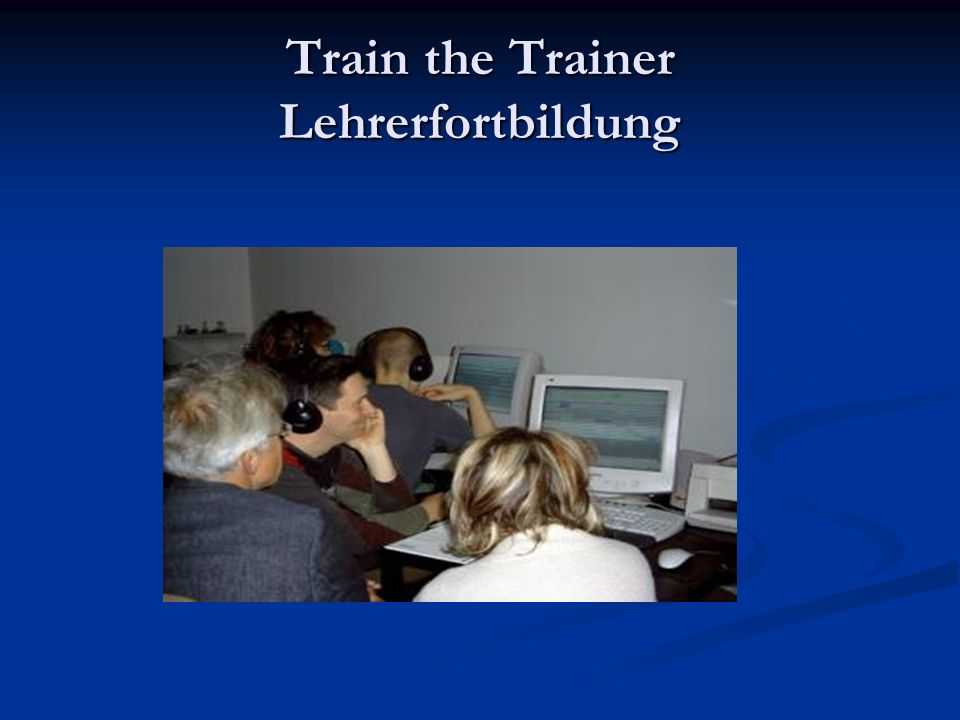 Train the Trainer Lehrerfortbildung
