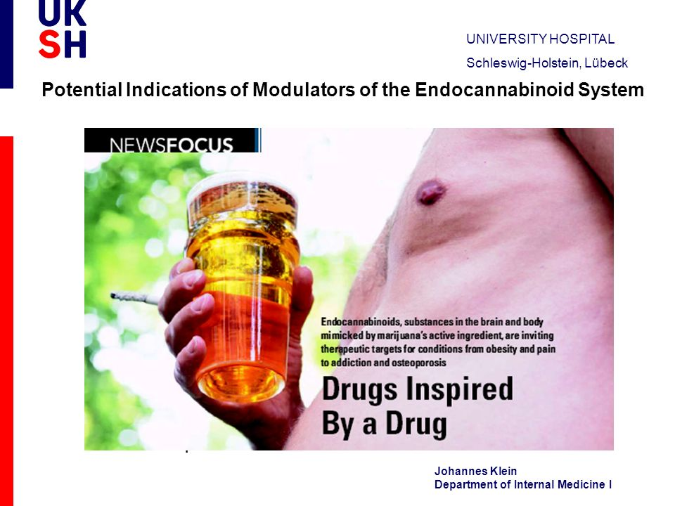 Potential Indications of Modulators of the Endocannabinoid System
