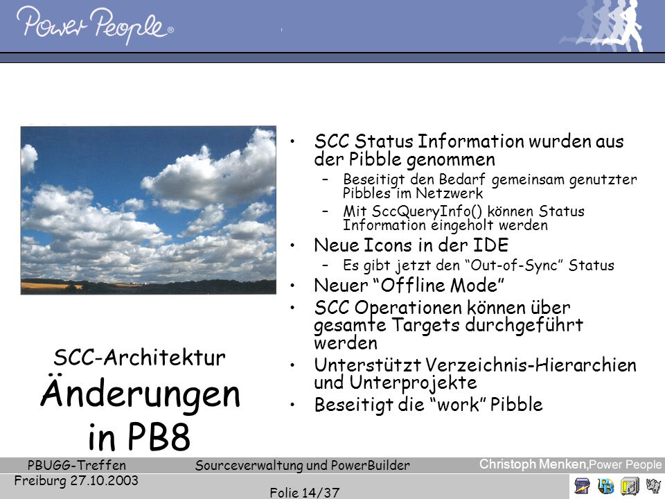 SCC-Architektur Änderungen in PB8