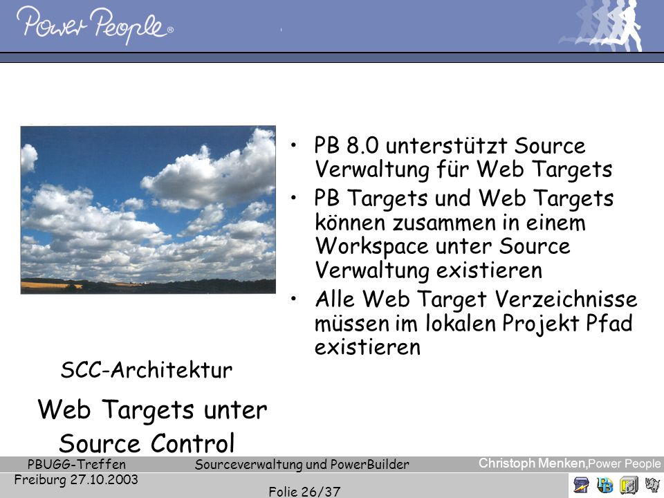 SCC-Architektur Web Targets unter Source Control