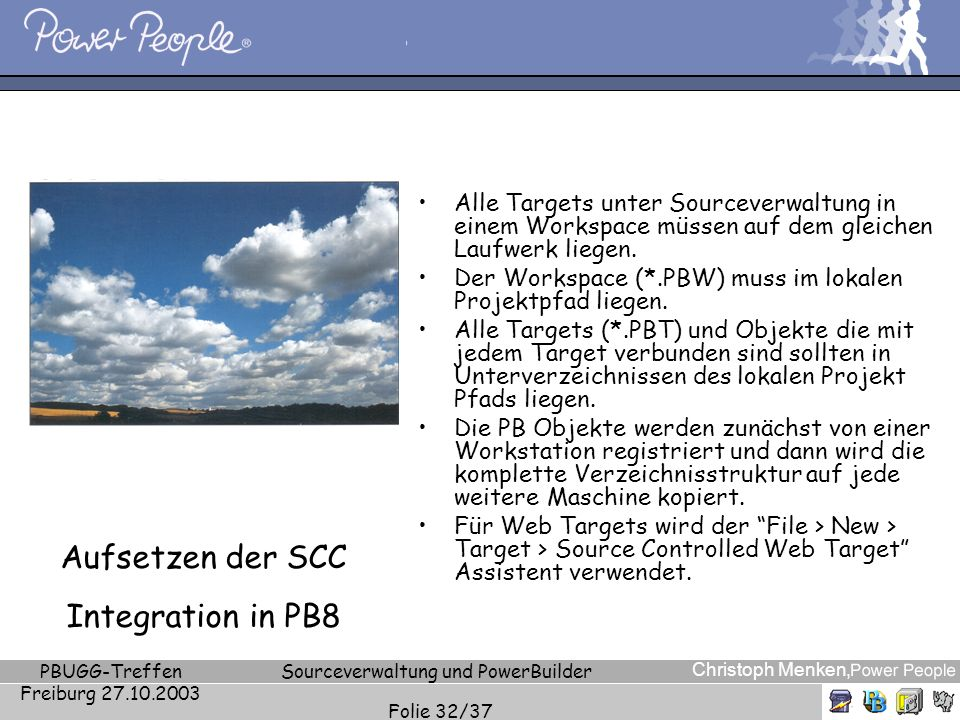 Aufsetzen der SCC Integration in PB8