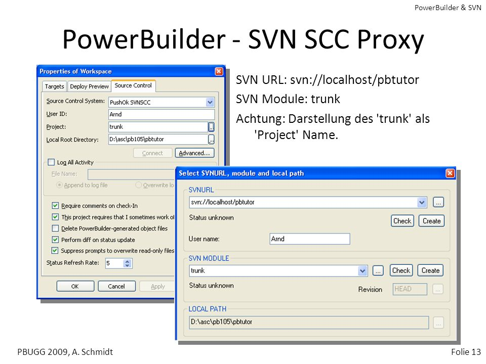 PowerBuilder - SVN SCC Proxy