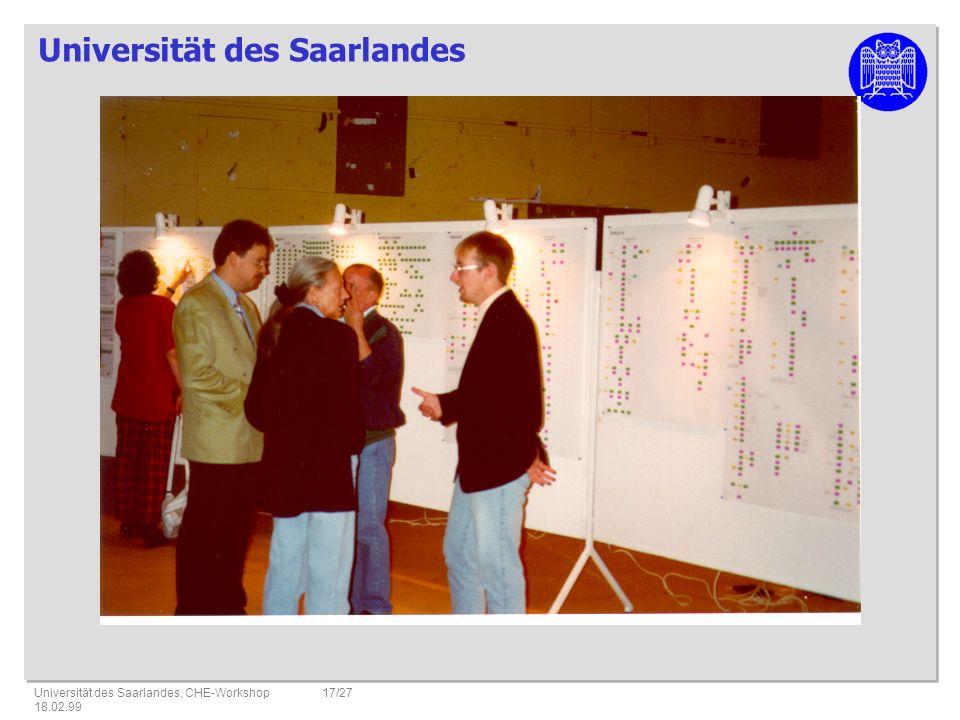 Universität des Saarlandes, CHE-Workshop