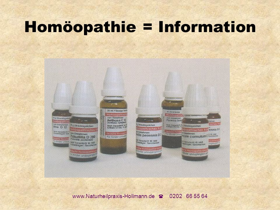Homöopathie = Information