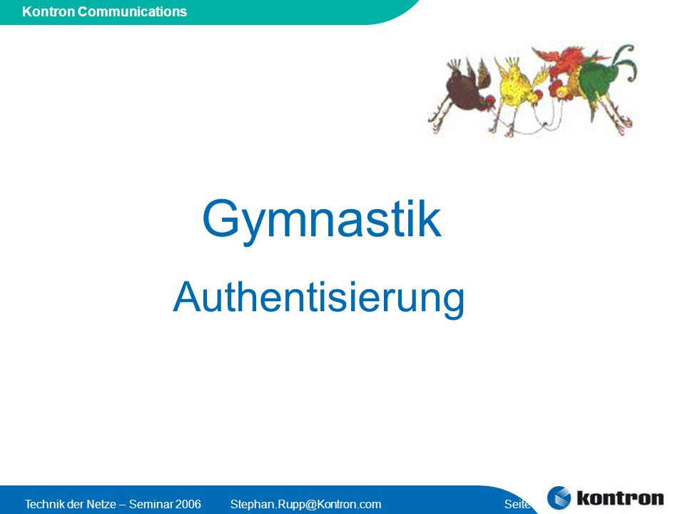 Gymnastik Authentisierung