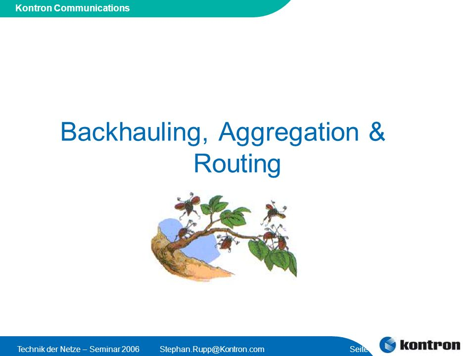 Backhauling, Aggregation & Routing