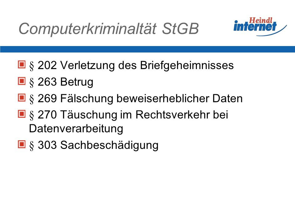 Computerkriminaltät StGB