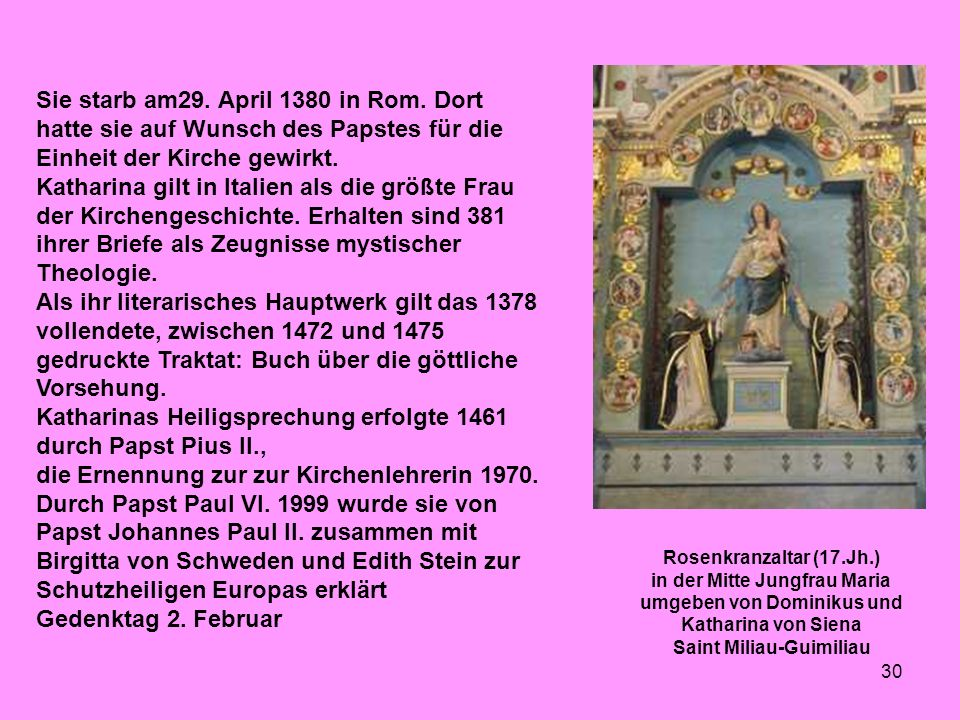Sie starb am29. April 1380 in Rom
