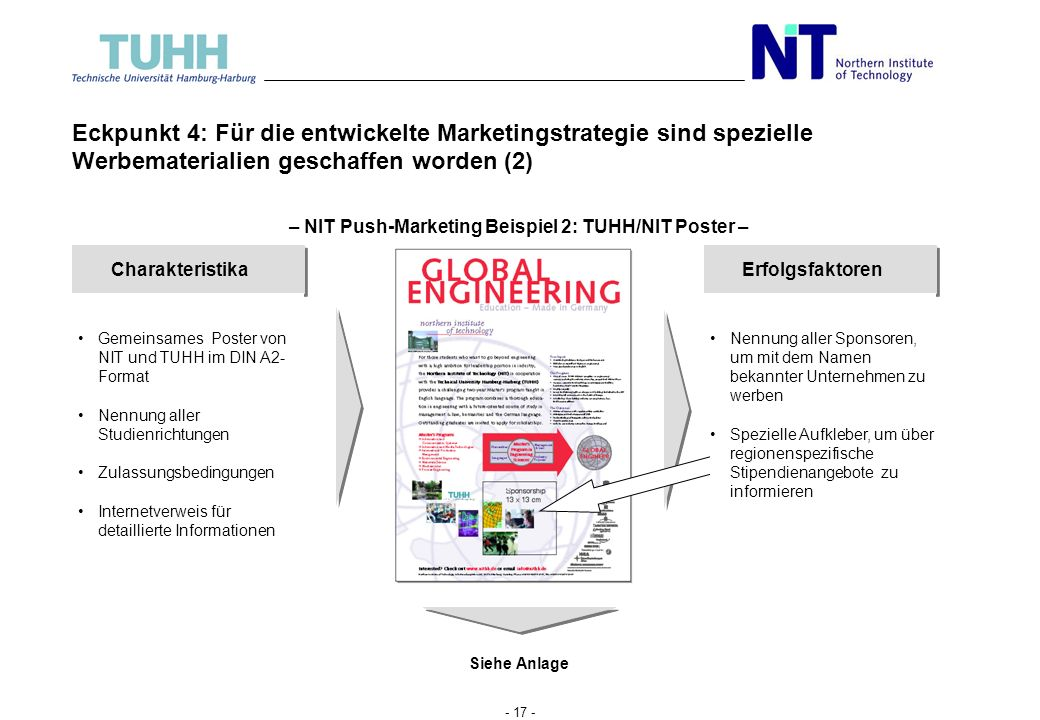 – NIT Push-Marketing Beispiel 2: TUHH/NIT Poster –