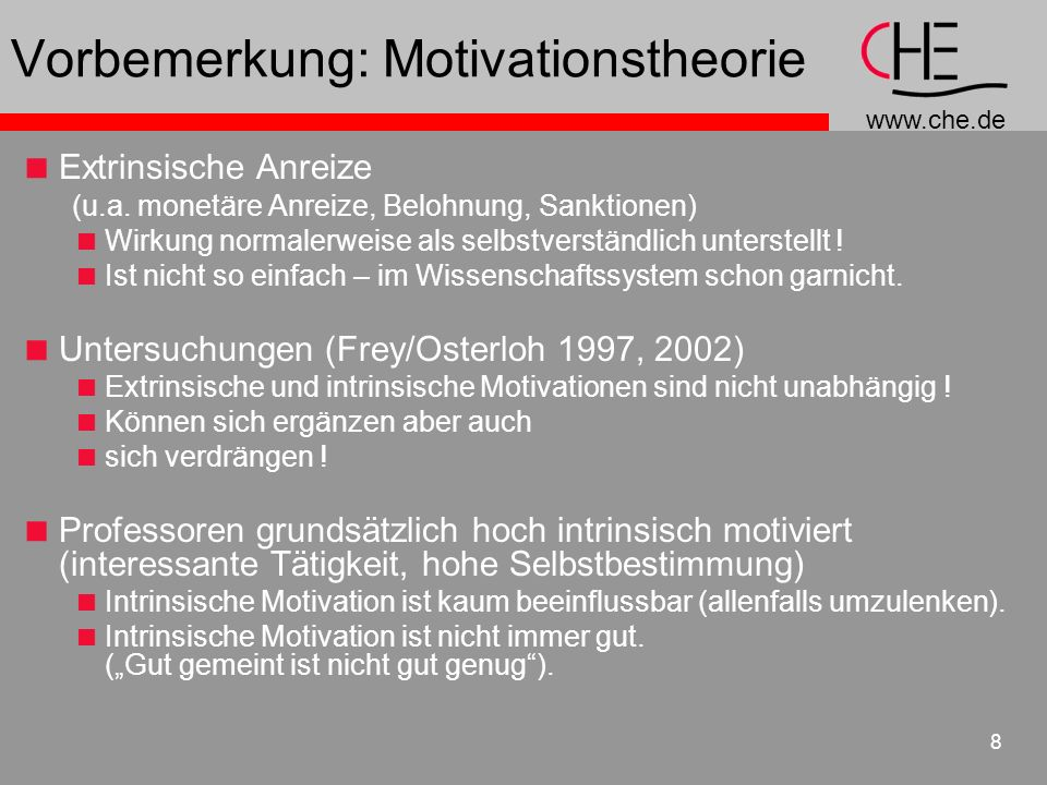 Vorbemerkung: Motivationstheorie