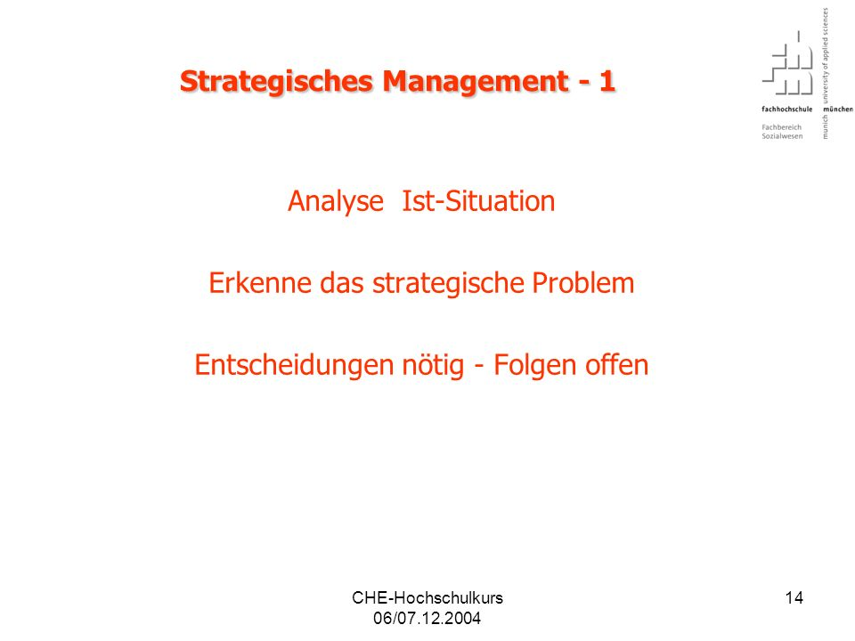 Strategisches Management - 1