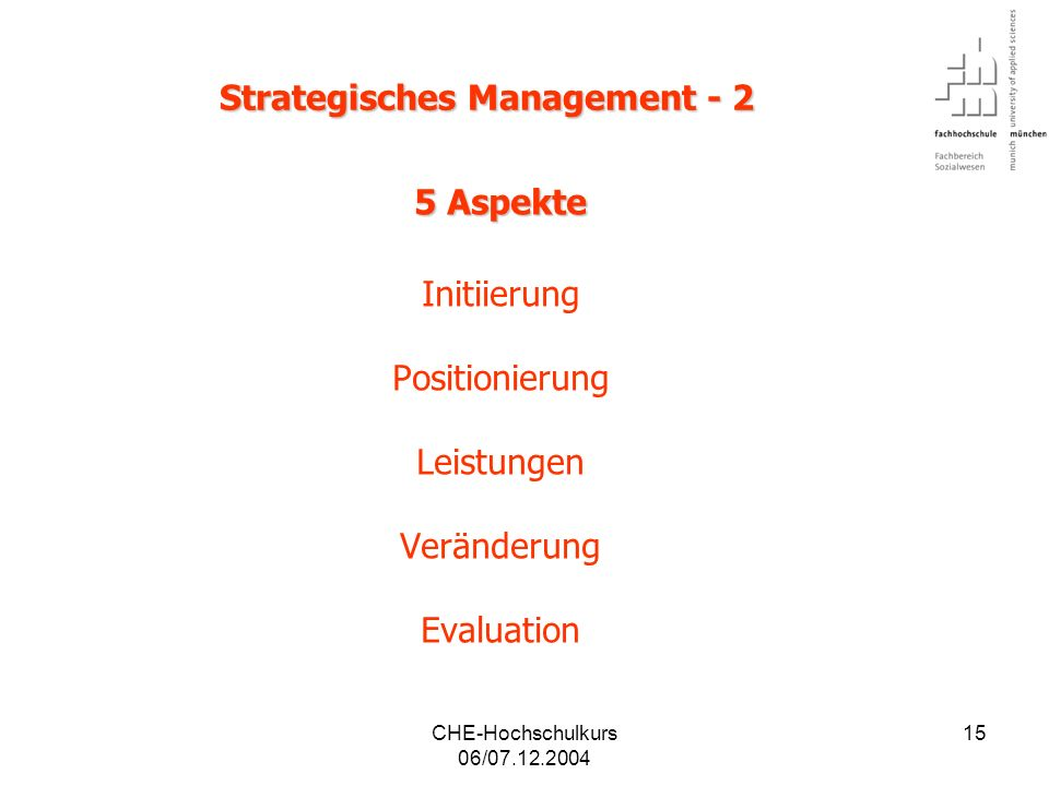 Strategisches Management - 2