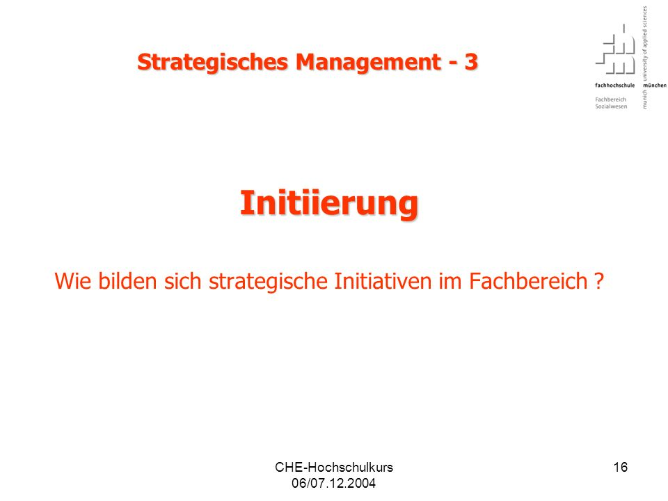 Strategisches Management - 3