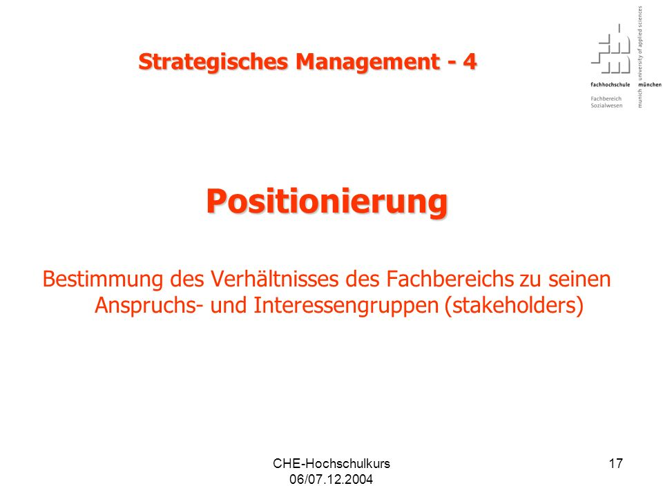 Strategisches Management - 4