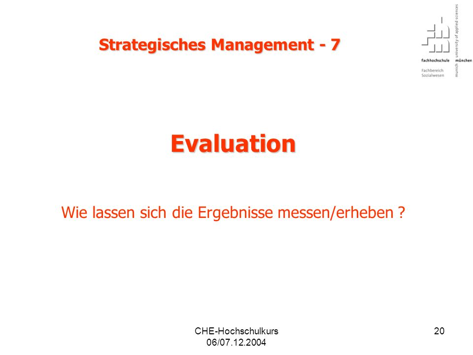 Strategisches Management - 7