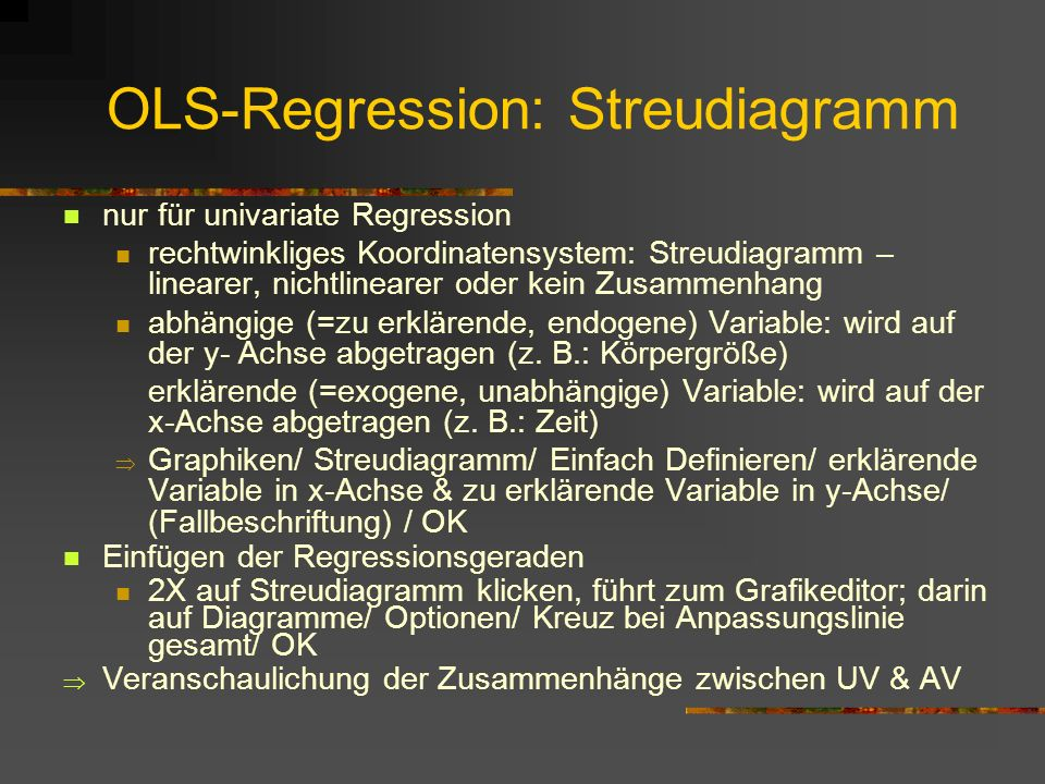 OLS-Regression: Streudiagramm