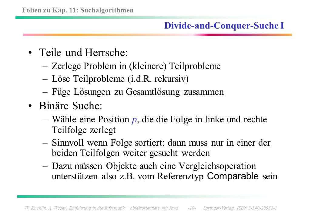 Divide-and-Conquer-Suche I