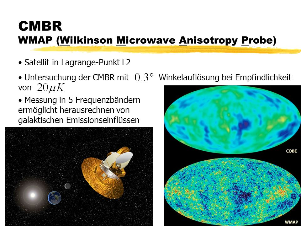 CMBR WMAP (Wilkinson Microwave Anisotropy Probe)