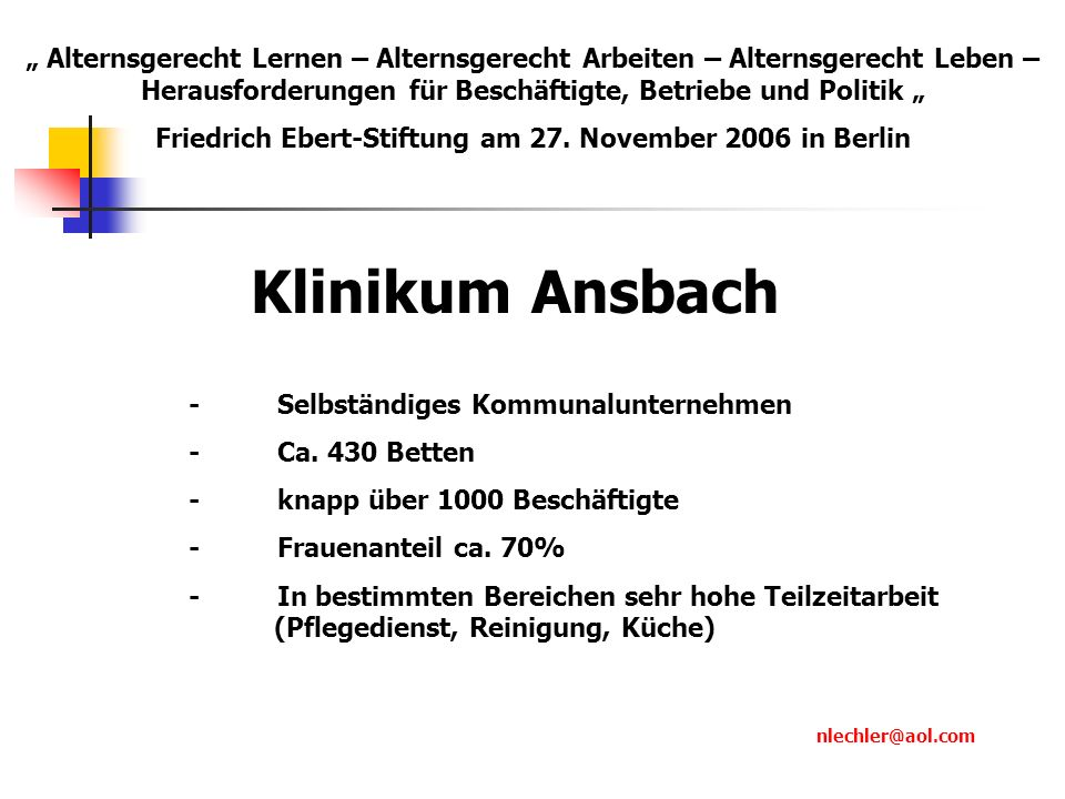 Friedrich Ebert-Stiftung am 27. November 2006 in Berlin
