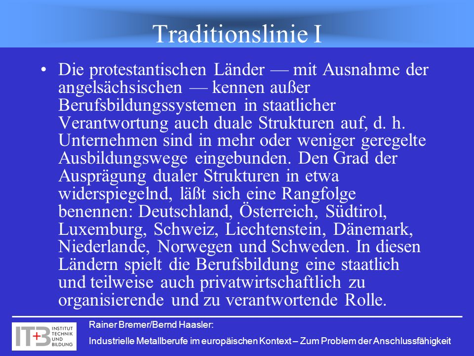 Traditionslinie I