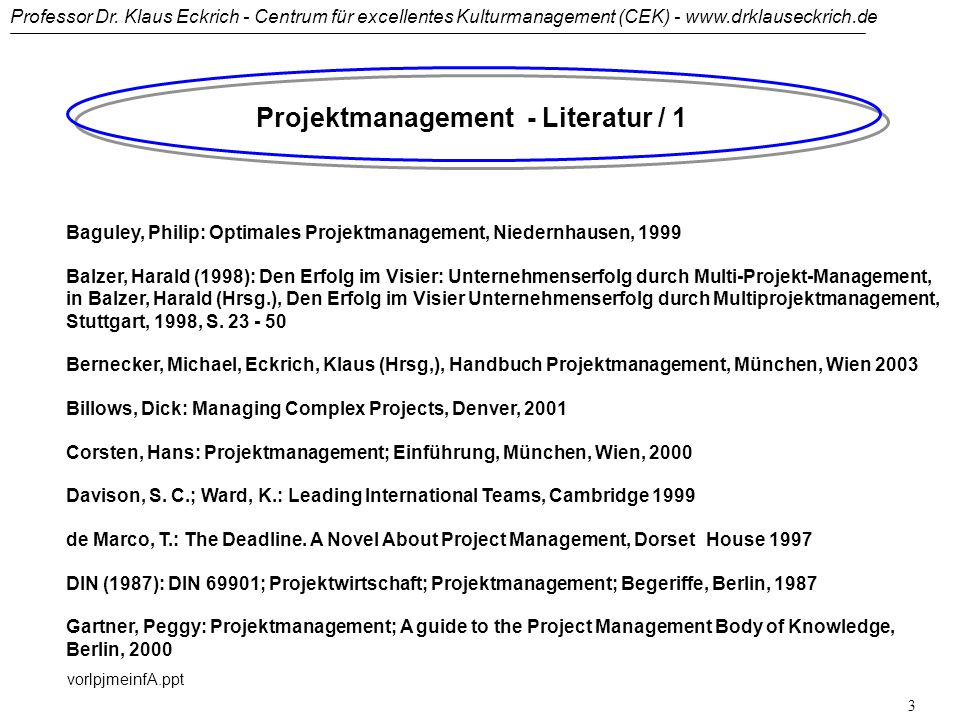 Projektmanagement - Literatur / 1