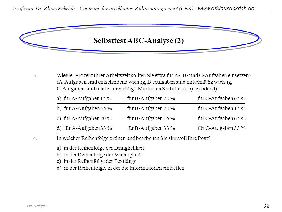 Selbsttest ABC-Analyse (2)
