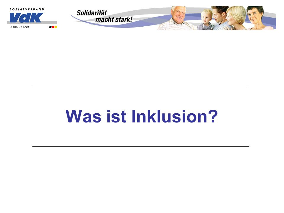 Was ist Inklusion