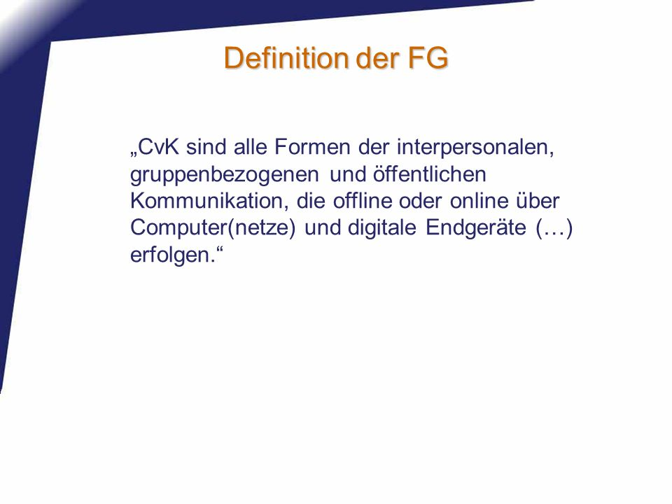 Definition der FG