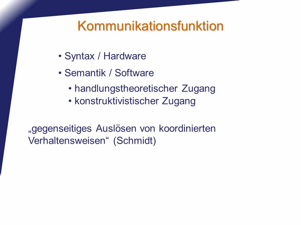 Kommunikationsfunktion
